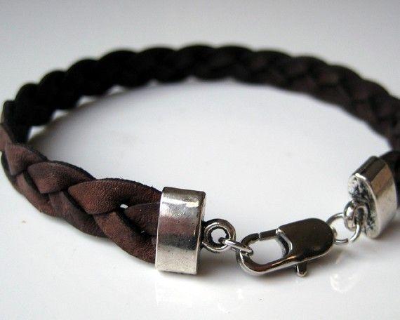 Bracelet homme cuir tressé N2420