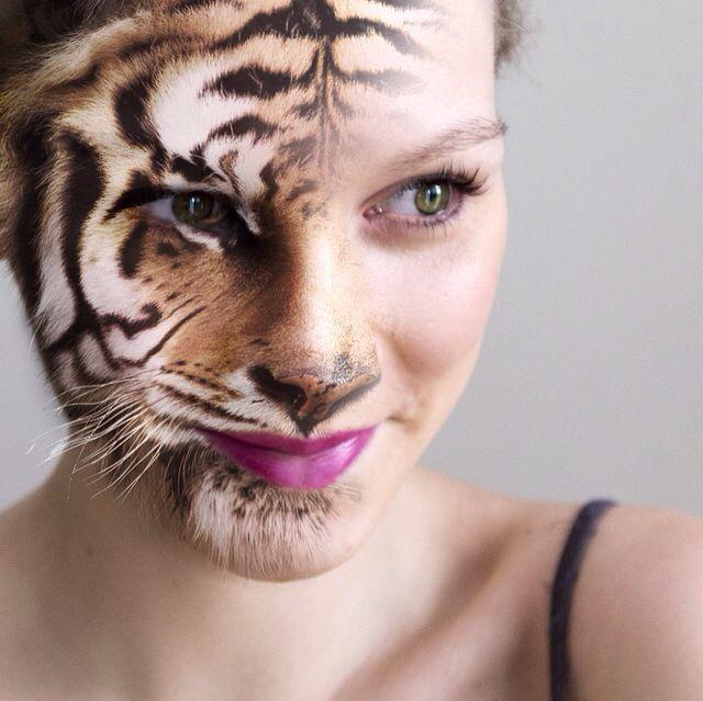 Half human. Half animal. #photoshop #portrait