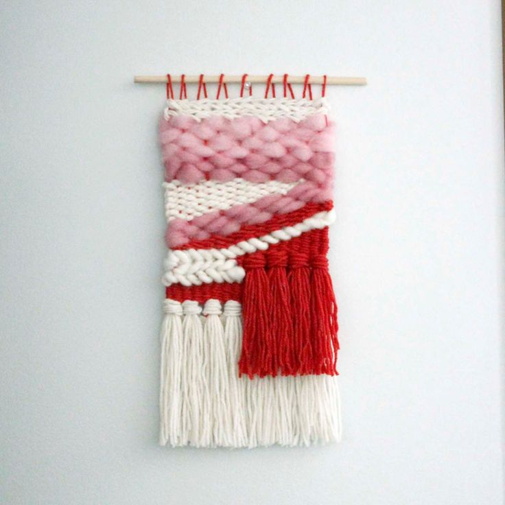 Weaving for Girls Nursery, Modern Woven Wall Hanging, Nursery Decor