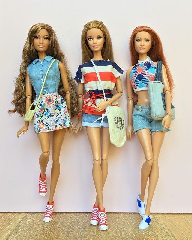 Casual Summer Style ⚓️☀️ Dolls: Barbie Basics & The Look dolls on Fashionista bodies. #barbie #barbiestyle #barbieclothes #barbiecollector #barbiefashionista #barbiebasics #barbiethelook #dollphotogallery #dollclothes #dollcollector #redwhiteandblue #casualstyle #summerclothes #dollsindenim #denimdoll