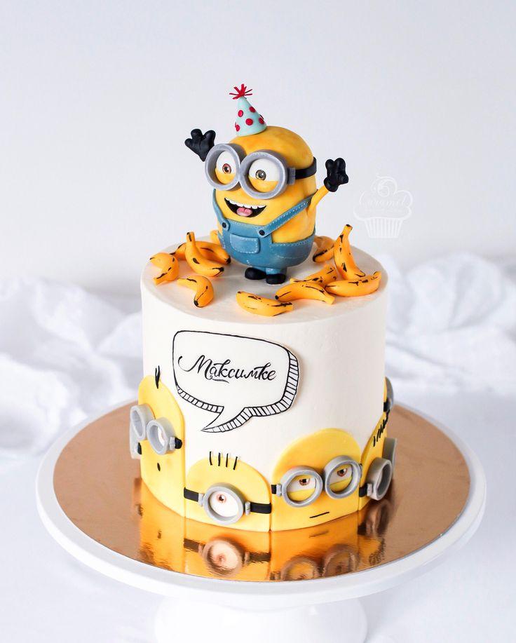 блока торты миньоны на день рождения фото содержит