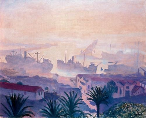 The Port of Algiers with Haze, 1943   Albert Marquet