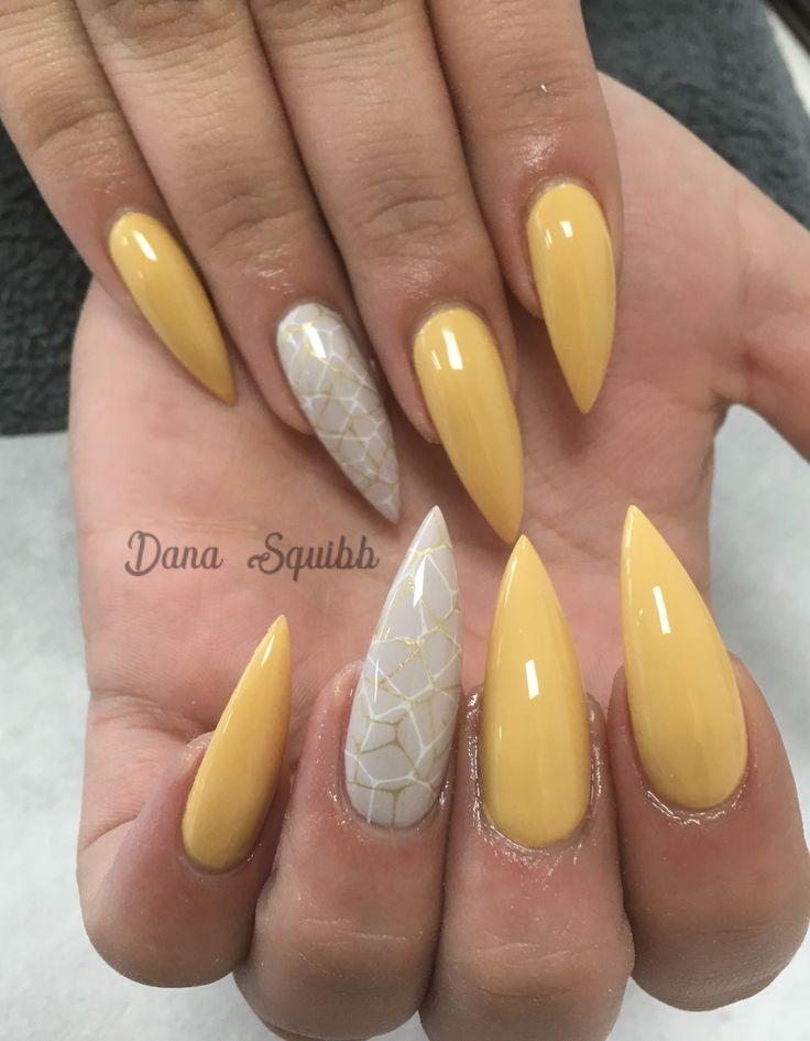 #yellownails #mustardnails #nailart