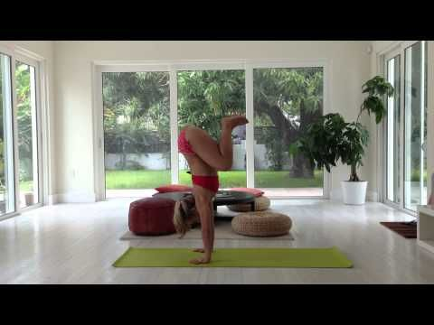 Yoga Handstand Jump, 10 Minute Class with Kino