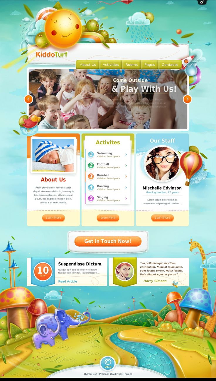 How to design a website for kids - Kiddoturf Kids Wordpress Theme