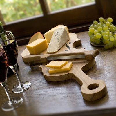 Wooden Violin Cheese Board & Knife Set ‹ ComposerBase