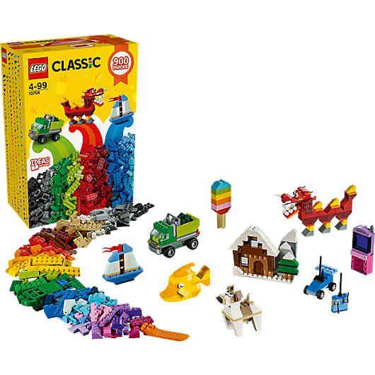 Diese aufregende Kreativ-Steinebox (LEGO-Nr.: 10704) in Regenbogenfarben bietet eine bunte Welt mit Bauspaß und grenzenlosen Möglichkeiten!<br /> <br /> Entwerfen, aufbauen und dann wieder umwerfen. Der Kreativität sind hier keine Grenzen gesetzt. Die farbenfrohen Grundbausteine bieten vielfältige Möglichkeiten der Gestaltung. Gemeinsam mit den Spezialelementen wie Rädern, Türen, Fenster und Augen ergänzen sich die Teile für einen nie enden wollenden Bauspaß mit LEGO. &l...