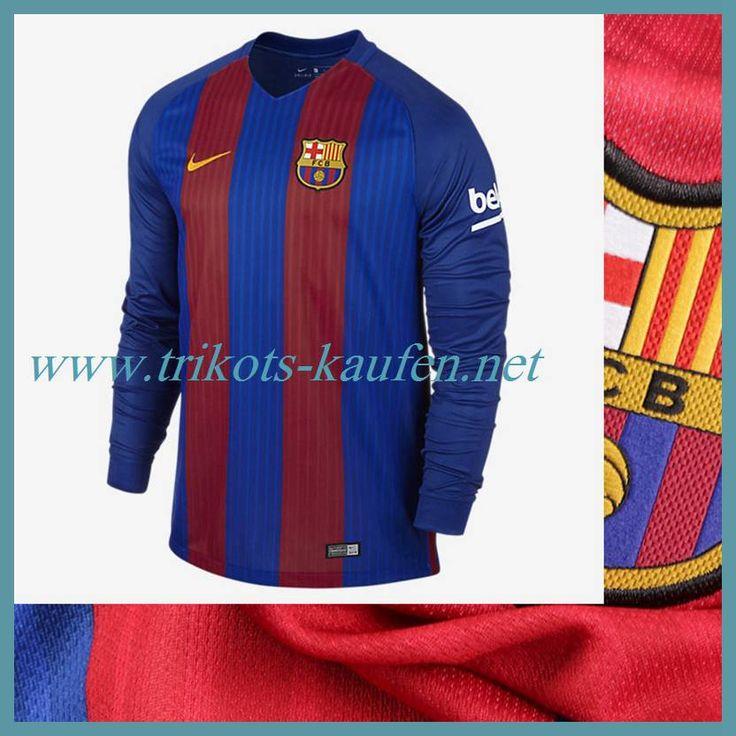Coole FC Barcelona Trikot Langarm Heim Rot/Blau 2016 2017 Gestalten