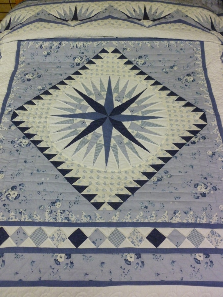 Quilting Patterns Mariner S Compass : Best 25+ Mariners compass ideas on Pinterest Compass rose, Barn quilt patterns and Compass art