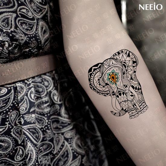 Pas cher Tatouage éléphant autocollant motif de tatouages temporaires faux corps conception tatto tatoo animal art sexy étanche livraison gratuite, Acheter  Tatouages temporaires de qualité directement des fournisseurs de Chine:            Temporary Tattoo Sanskrit Tattoo Sticker Fake Tatoo Waterproof Combination Tatto Body Art Free: