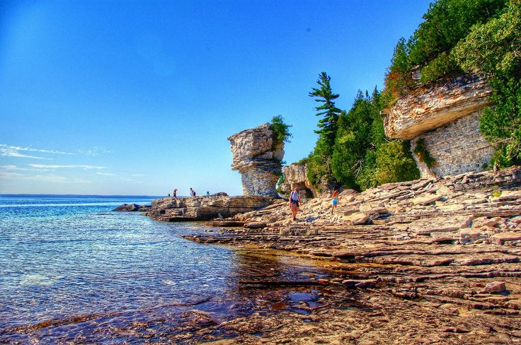 Flowerpot Island.. Not too far from Tobermory, Ontario.