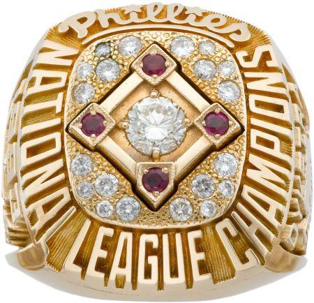 1993 Lenny Dykstra Philadelphia Phillies National League Championship Ring
