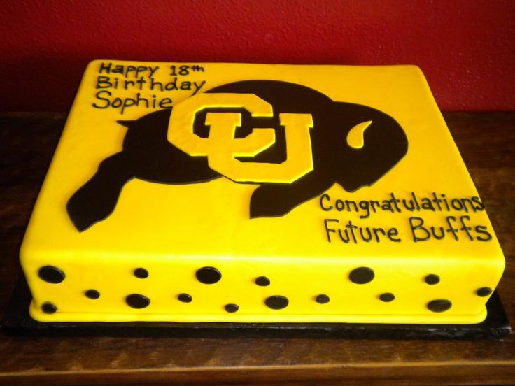 University Of Colorado Cake Graduation Cakes Pinterest