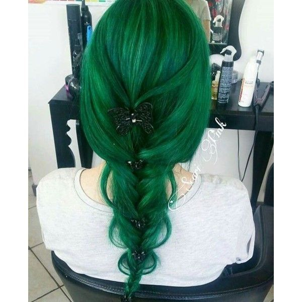 Crazy colored hair ❤ liked on Polyvore featuring accessories, hair accessories and green hair accessories
