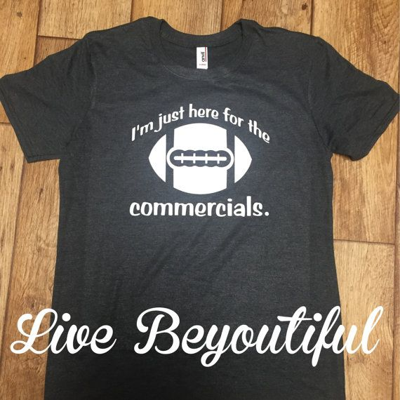 Sunday Funday T-Shirt Super Bowl Sunday T-Shirt Super Bowl Commercials Football T-Shirt  Available on Etsy... https://www.etsy.com/shop/livebeyoutiful