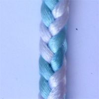 Kumihimo braiding square cords with 8 strings