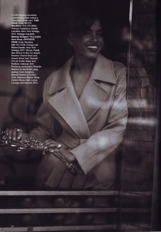 """Fashion and All That Jazz"": Chanel Iman and Arlenis Sosa by Peter Lindbergh for US Harper's Bazaar September 2009"