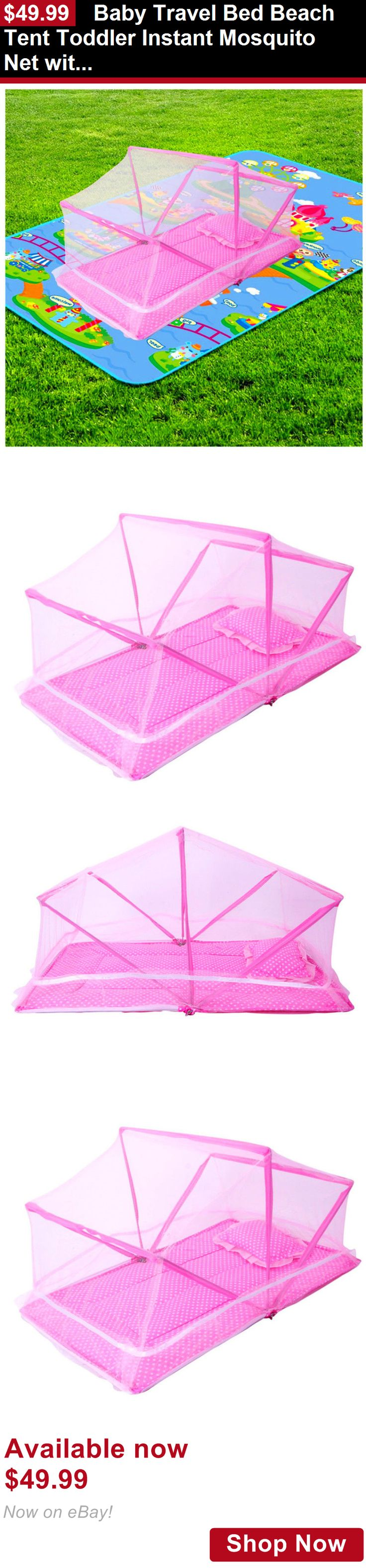 Baby play shades and tents: Baby Travel Bed Beach Tent Toddler Instant Mosquito Net With Mattres Girls Gift BUY IT NOW ONLY: $49.99