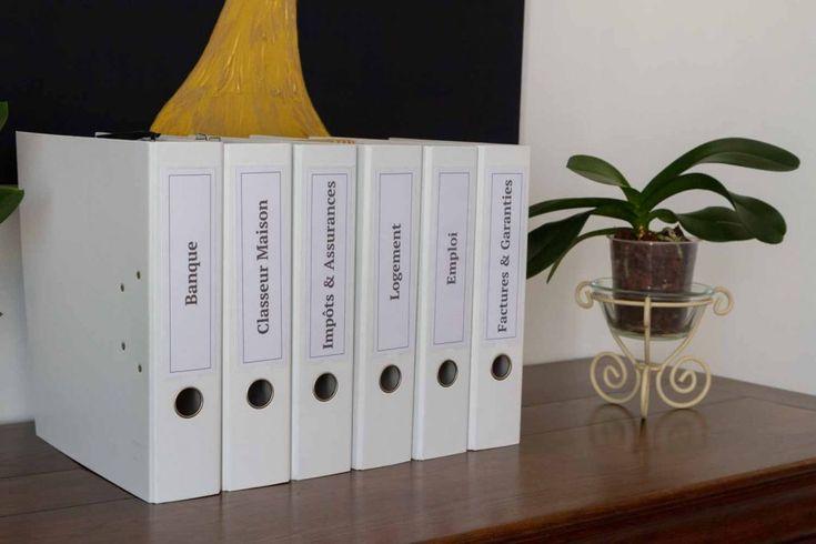 Papiers rangés - Blog - Ça infuse | Rangement papier administratif, Rangement papier bureau et ...