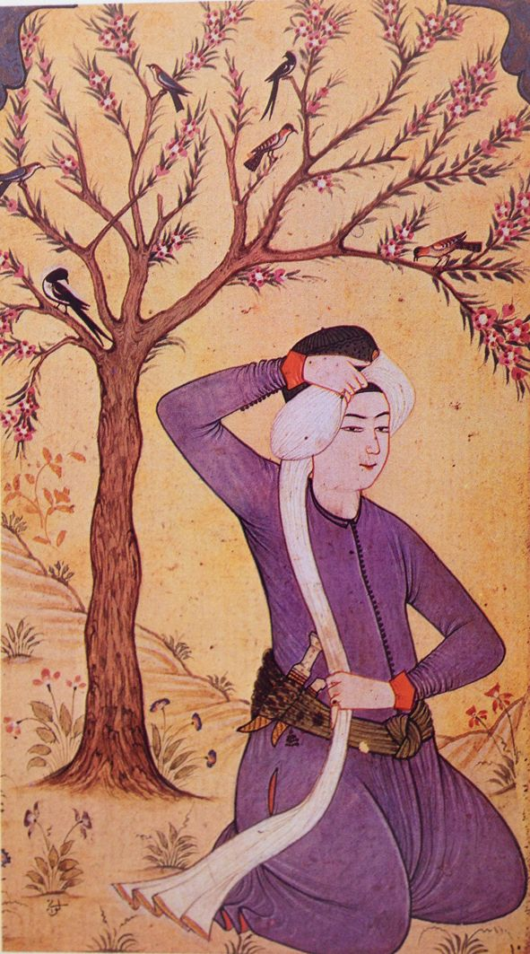 Minyatür-miniature. A youth.   Levni, 18th century.