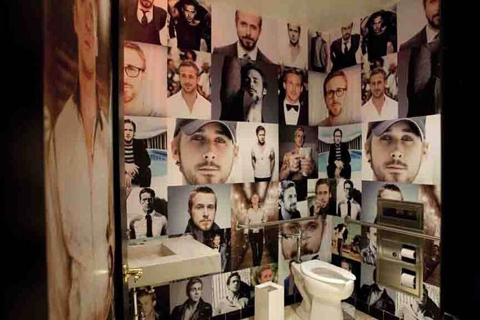 Is this Ryan Gosling tribute your dream bathroom? FIRST LOOK: Bang Bang - SD Food News - Summer 2013 - San Diego