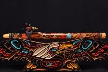 Brent Haines Native American Flute with matching flute case.