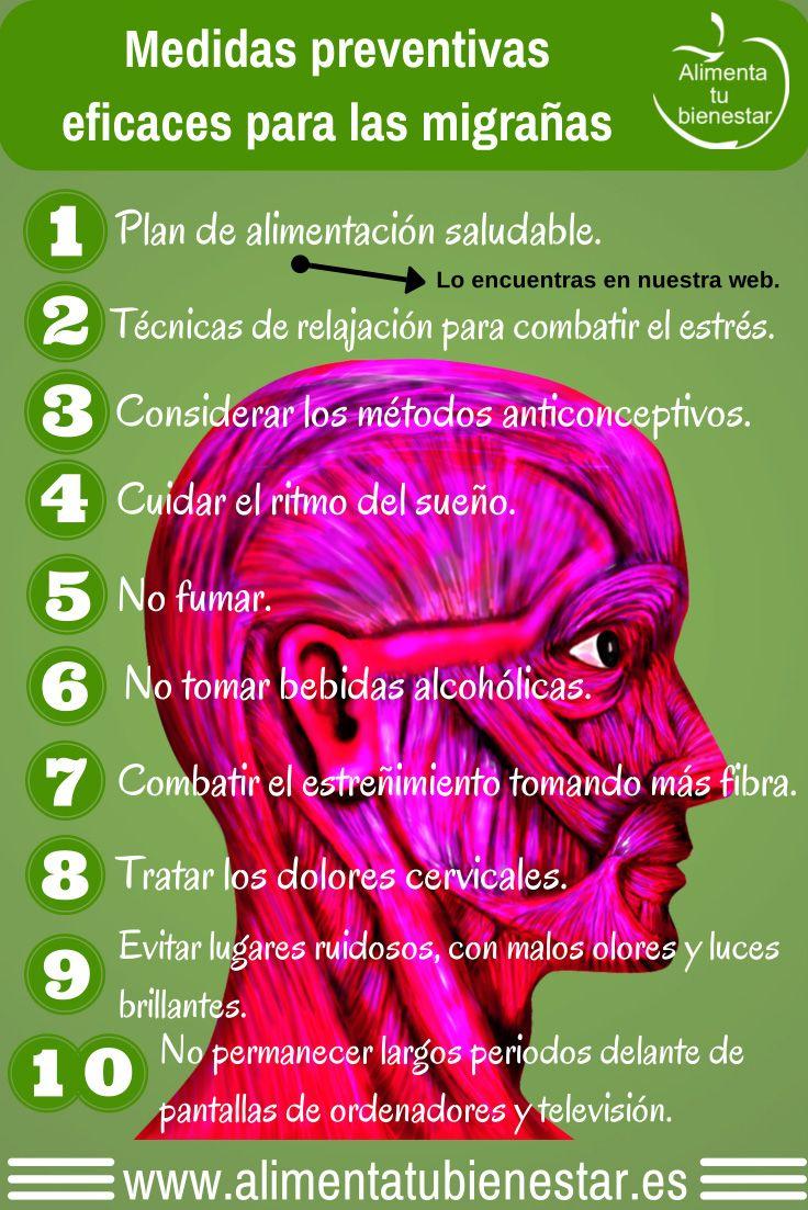 La Migraña es una de las enfermedades más discapacitantes. Aquí algunas medidas preventivas eficaces para las migrañas #dolordecabeza