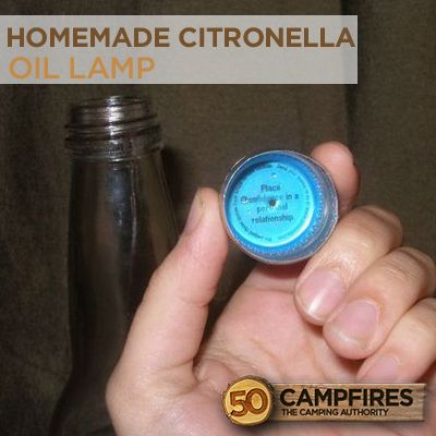 DIY Homemade Citronella Oil Lamp To Keep Away Insects
