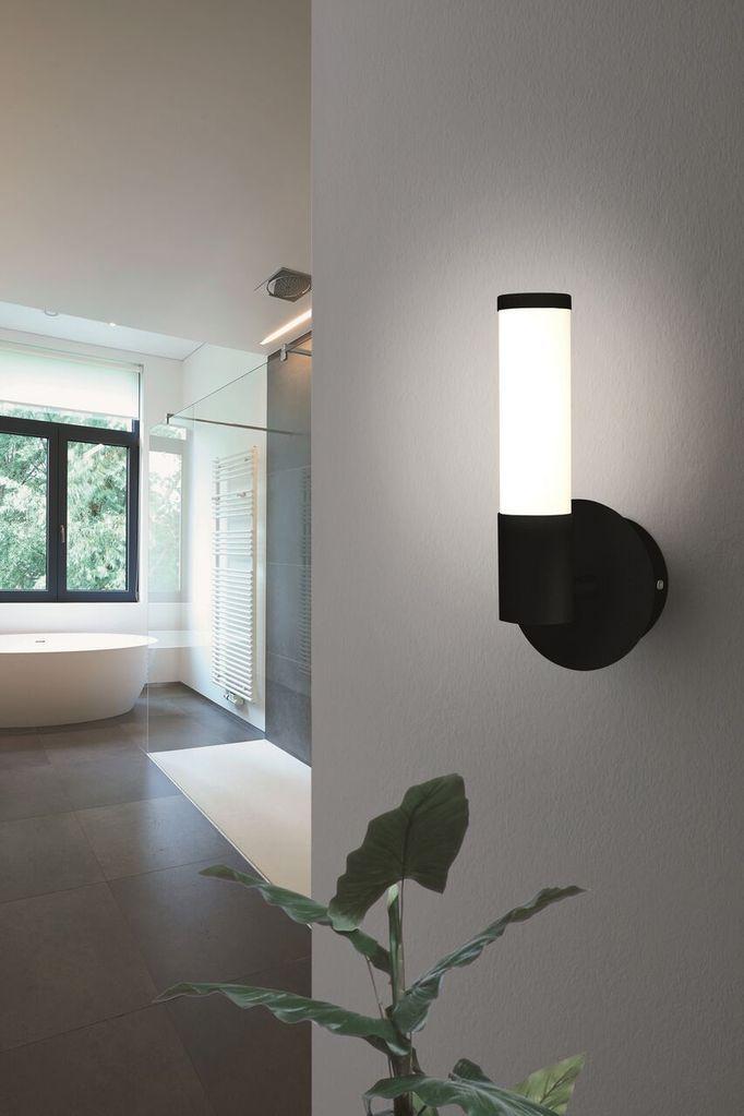 Palmera 1 Wall Light Led 1lt 2lt 3000k Matt Black Opal Eglo Lighting 2 The Lighting Outlet Nz In 2020 Wall Lights Eglo Light