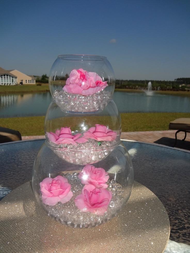 Wedding Centerpiece Ideas | Outdoor Wedding Centerpiece Ideas Using Water Beads