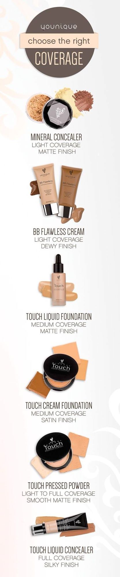 Foundations for all! www.youniqueproducts.com/samanthastuart31