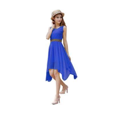 Winsome Blue Georgette Semi Stitched Kurti