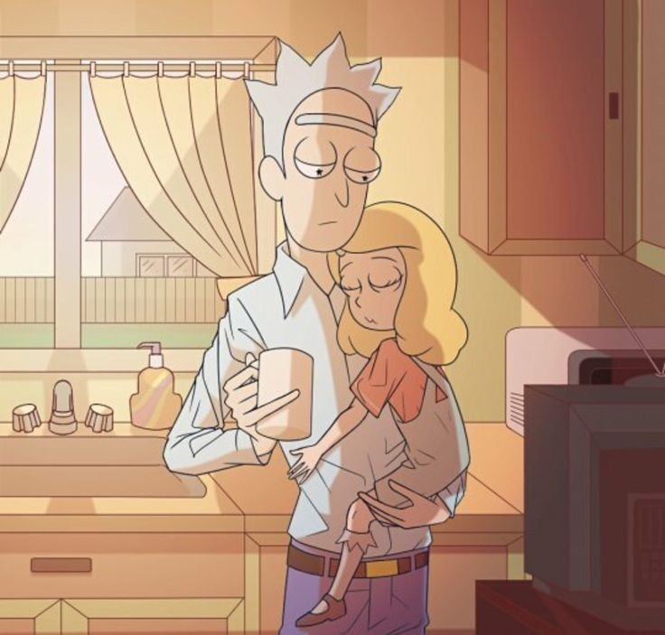 Rick and Beth | Rick and Morty fan art