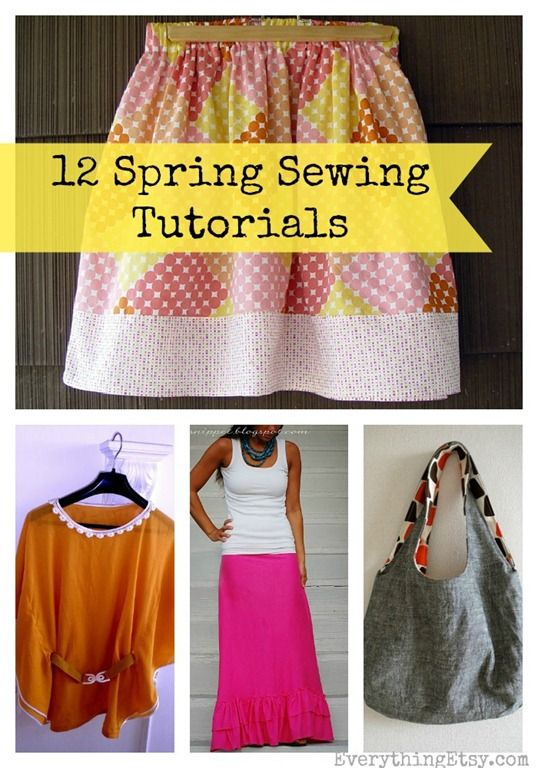 12 Spring Sewing Tutorials - Easy Projects! @Jane Curtis Etsy