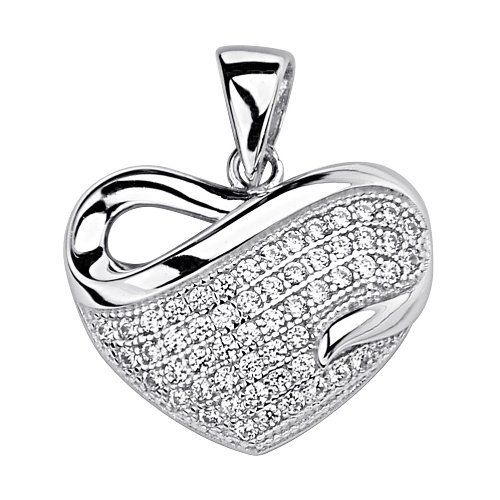 .925 Sterling Silver CZ Micro Pave Heart Wave Shimmering Charm Pendant GoldenMine. $22.00. Special manufacturing process held to ensure less wear and tarnish. Promptly Packaged with Free Gift Box...Perfect for Gift Giving. Rhodium coated for more shine.. This item showcases the finest Sterling Silver available today!