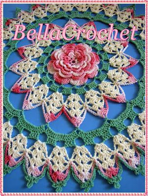 """Rhapsody Rose; A Free Crochet Doily Pattern Size:  About 12"""" across   Skill Level:  Intermediate- for those who are familiar with working with size 10 thread and steel hooks, and ..."""
