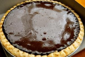 Heavenly Homemade Chocolate Pie with Whipped Topping
