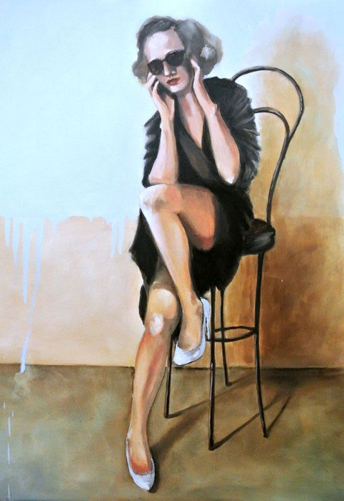 Control Freak, oil on canvas #art by Mila Posthumus. Buy online from StateoftheART http://bit.ly/1tAzgH4