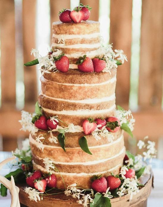 23. We have another gorgeous naked cake for you but this time paired with ample…