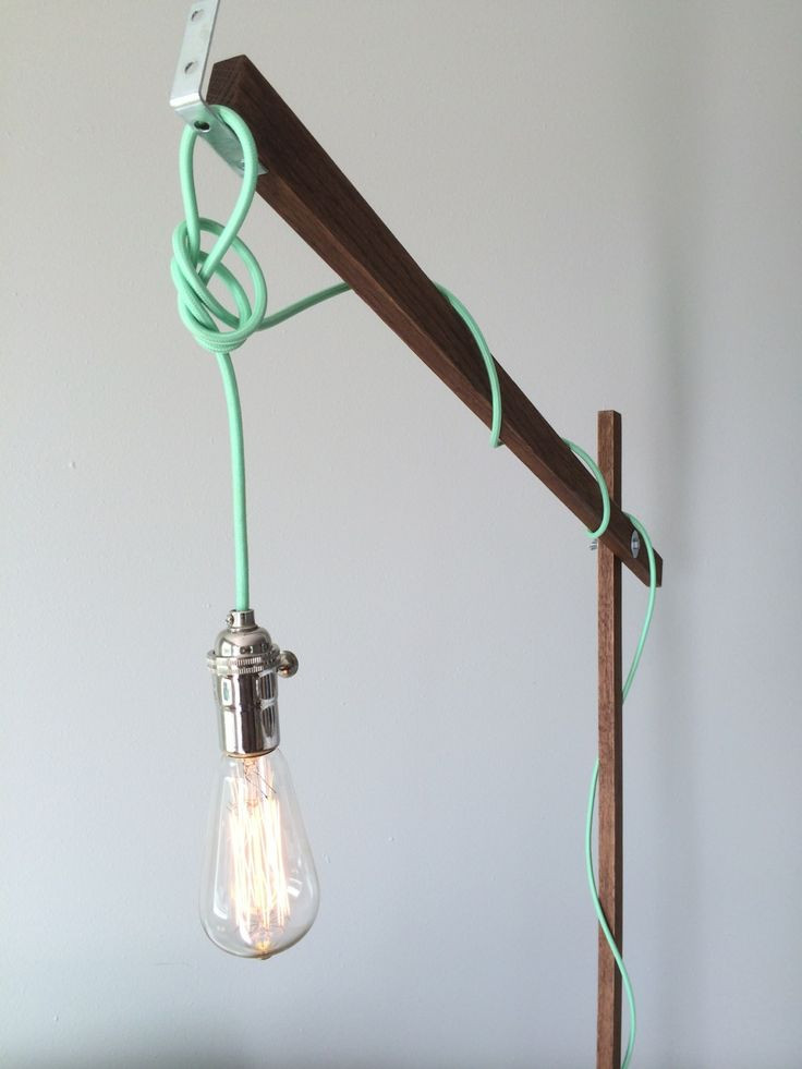 Modern Wood Floor Lamp from a 1x2