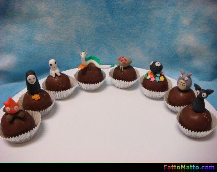 Dolcetti Studio Ghibli, Totoro, Calcifer ed altri - via FattoMatto.com