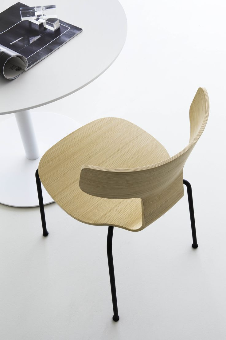 Lightweight stackable chairs - Fedra Plywood Stackable Chair Designed By Leonardo Rossano Produced By Lapalma In 2016