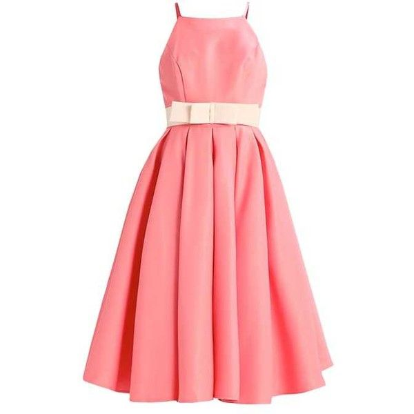EKATERINA Cocktail dress Party dress coral ($69) ❤ liked on Polyvore featuring dresses, red cocktail dress, coral dress, coral red dress, red dresses and coral cocktail dress