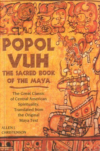 This sacred book from Mayan culture, the Popol Vuh's prominent features are its creation myth, its diluvian suggestion, its epic tales of the Hero Twins Hunahpú and Xbalanqué and its genealogies. This sacred book was perhaps written in hieroglyphic characters. The stories of the Popol Vuh had to be passed along orally. In 1558, the Popol Vuh was written down by a native who learned how to write the Mayan tongue using Latin characters.