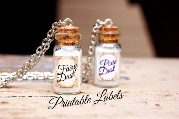 Fairy Dust Printable Labels for Mini by HeavenInARageCrafts