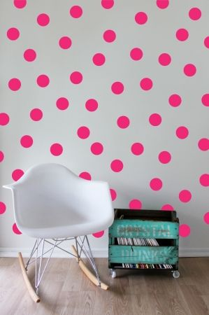 Add a neon pop to your kids room with these hot pink vinyl wall decals. Visit www.hardtofind.com.au for a huge collection of wall brighteners! #hardtofind #colour #fluro