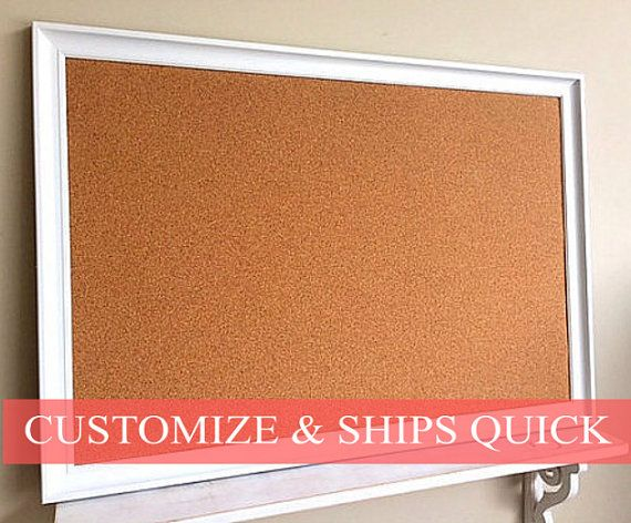 framed cork board large diy fabric boards kitchen organizers picture frame