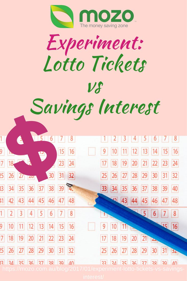 Lotto tickets vs Savings account: Spend tons trying to win the lotto or have a high interest savings account instead? Read the results in our blog below. https://mozo.com.au/blog/2017/01/experiment-lotto-tickets-vs-savings-interest/