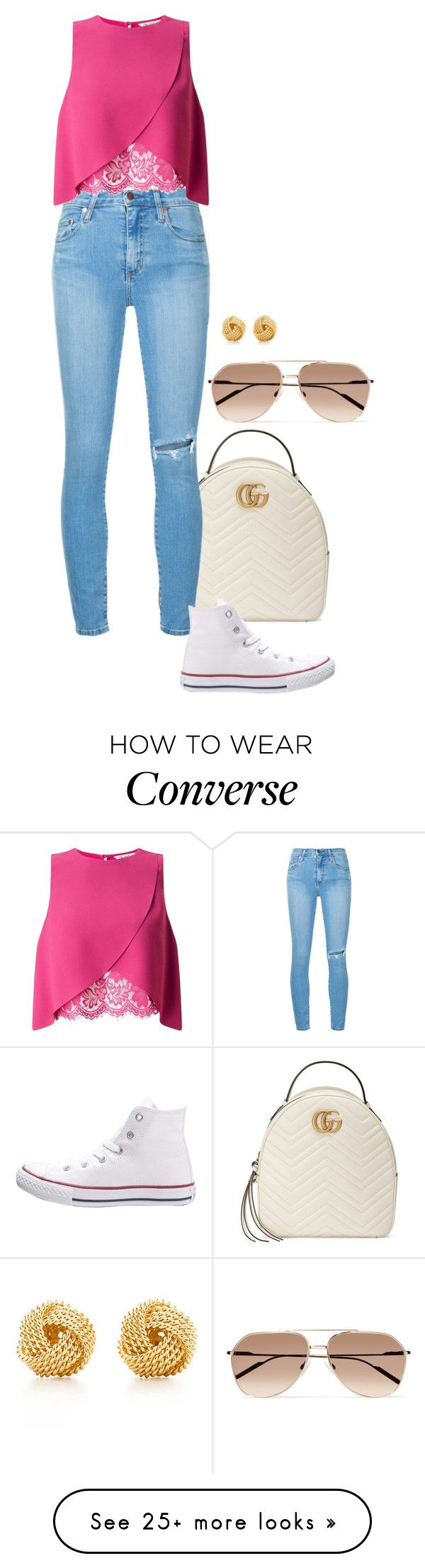 """Hydrated."" by foreverforbiddenromancefashion on Polyvore featuring Gucci, Nobody Denim, Miss Selfridge, Converse, Dolce&Gabbana and Tiffany & Co."