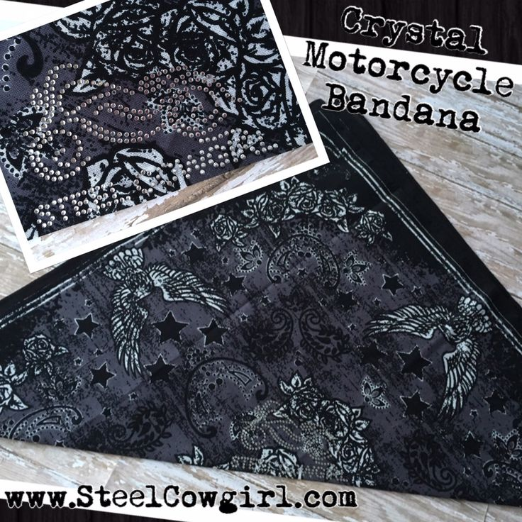 Eagle Wings Crystal Motorcycle Bandana Headwrap by Steel Cowgirl